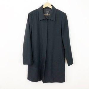 Sigred Olsen Black Midi Black Jacket Hidden Button